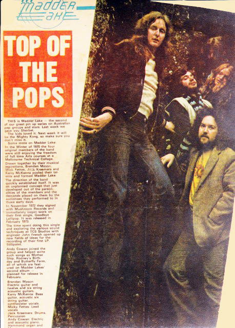 top of the pops Madder Lake - Andy Cowan History